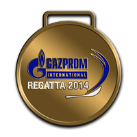 Наградные медали GAZPROM INTERNATIONAL REGATTA 2014 . Реверс медали 1 место