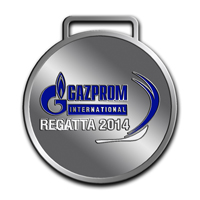 Наградные медали GAZPROM INTERNATIONAL REGATTA 2014 . Реверс медали 2 место