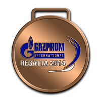 Наградные медали GAZPROM INTERNATIONAL REGATTA 2014 . Реверс медали 3 место