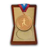 Медаль на юбилей Елены Исинбаевой в футляре