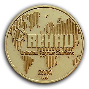 Золотая медаль компании Rehau